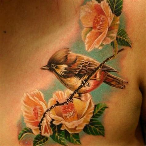 tattoo flower with birds 90 astonishing bird tattoos