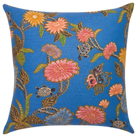 Kain Katun Batik 111 blue turtle batik pillow decorative pillows new york by janet kain for the home
