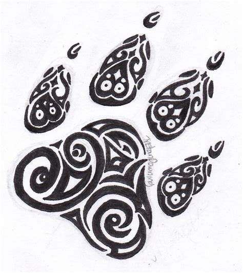 tribal paw print tattoo paw print tattoos designs ideas and meaning tattoos for you