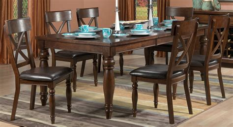 7 pc dining room set kingstown 7 dining room set chocolate s