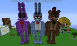 Minecraft statues at freddy 39 s five nights