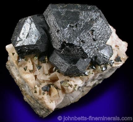 large black sphalerite on dolomite the mineral and
