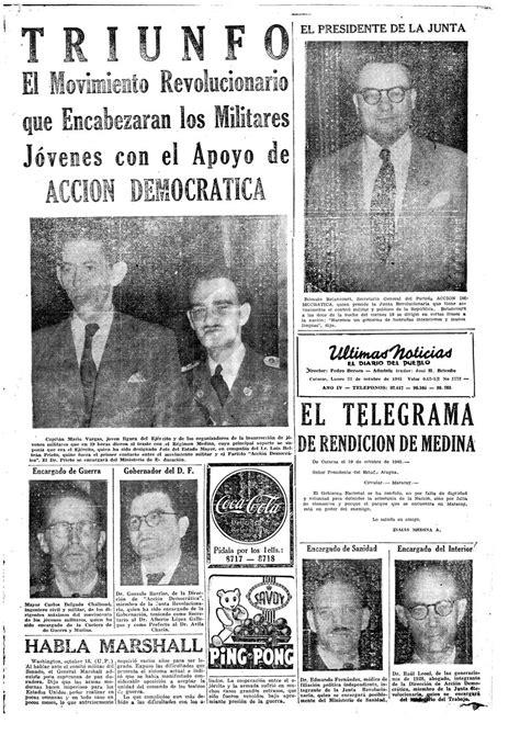 #Portada | En 1945 es derrocado el Presidente Isaías