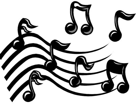 imagenes en blanco y negro de notas musicales imagenes notas musicales para imprimir imagenes y dibujos