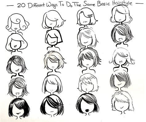 cute easy hairstyles to draw twenty ways basic hairstyle by neongenesisevarei on