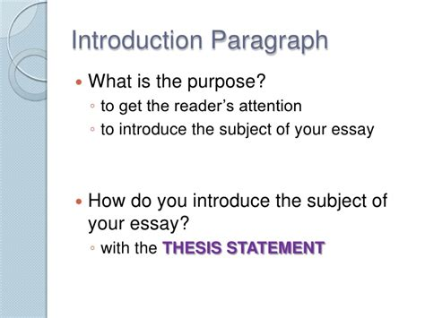 what is the purpose of a thesis purpose of thesis introduction