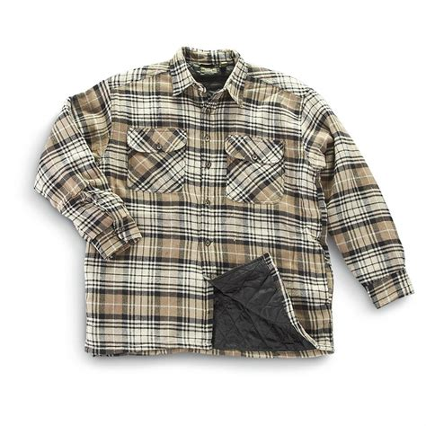 Quilted Shirt Jacket by Mountain Ridge 174 Quilted Flannel Shirt Jacket 203347