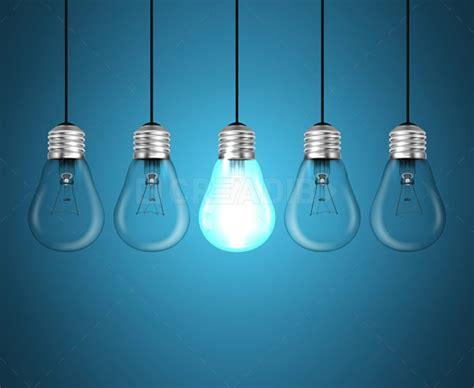 lights idea light bulbs idea concept on blue background creadib