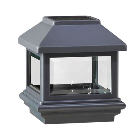 deckorail 4 in x 4 in antique black composite solar post