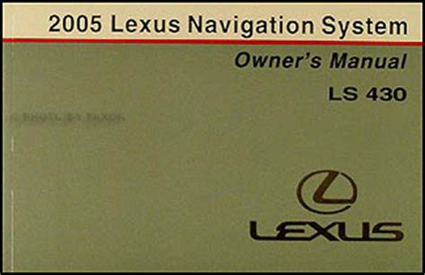 service manual manual repair free 2005 lexus ls regenerative braking service manual free 2005 lexus ls 430 owners manual original