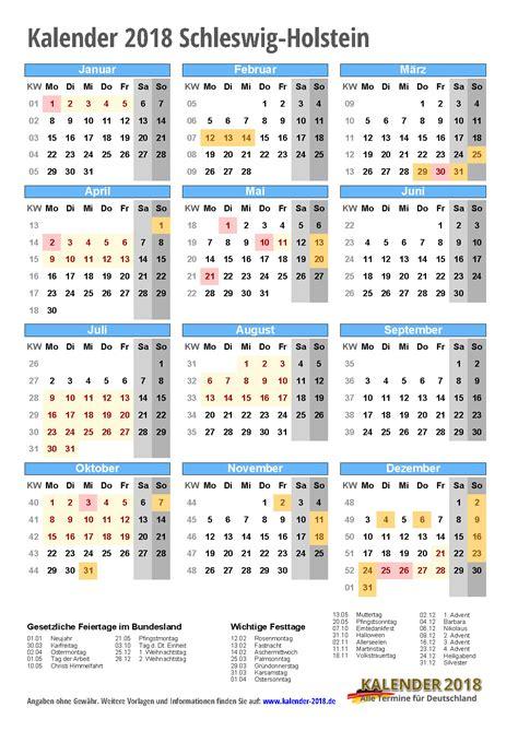 kalender 2018 schleswig holstein zum ausdrucken 171 kalender