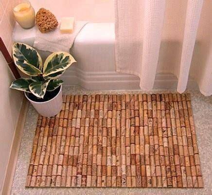 using a rug pad eith a bath mat awesome cork bath mat using approx 175 wine corks anti