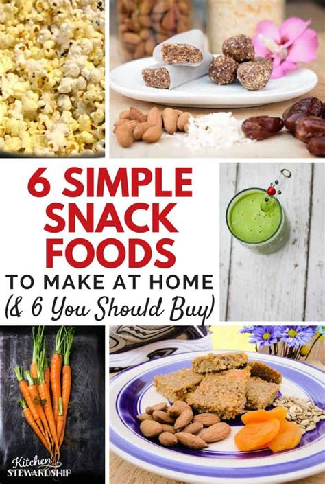 time budget busters 6 snack foods you should make at