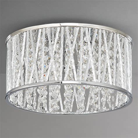 Buy John Lewis Emilia Crystal Drum Flush Ceiling Light Lewis Flush Ceiling Lights