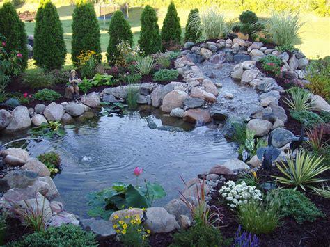 Backyard Koi Ponds Getaway Gardens Water Fire Features Make For Backyard