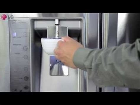 reset filter light on lg refrigerator how to replace refrigerator water filter french door