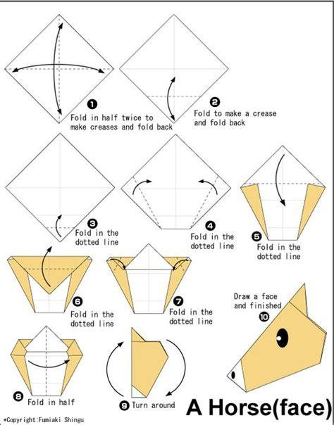 Origami Faces - origami fold crease origami
