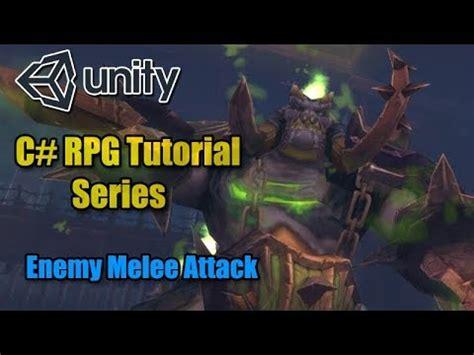 unity tutorial enemy unity rpg tutorial basic enemy melee attack c