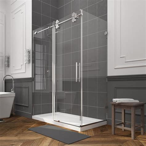 Glass Panel Shower Door Shop Ove Decors Sydney 78 75 In H X 30 25 In W Clear Shower Glass Panel At Lowes