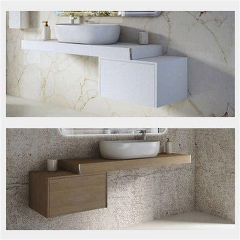 mensole da arredo mensola da 60 90 120 per arredo bagno con cassettiera