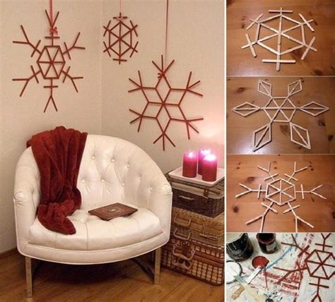 christmas decorations to make at home make christmas decorations using popsicle sticks gift
