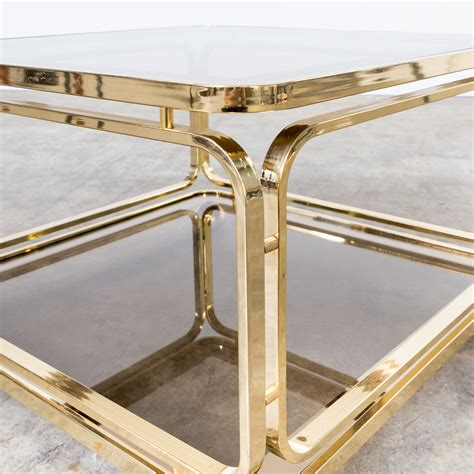 brass glass coffee table 60s brass and glass coffee table side table for allegri