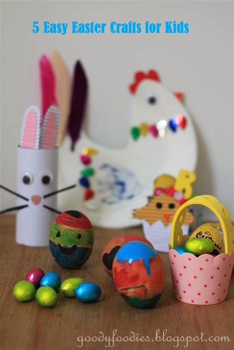kid easter crafts goodyfoodies five easy easter crafts for