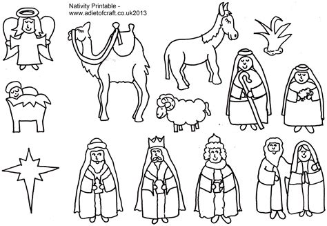 printable nativity scene to color 7 best images of nativity story printable book printable