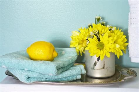 blue and yellow bathroom sherwin williams watery bathroom makeover home stories a to z