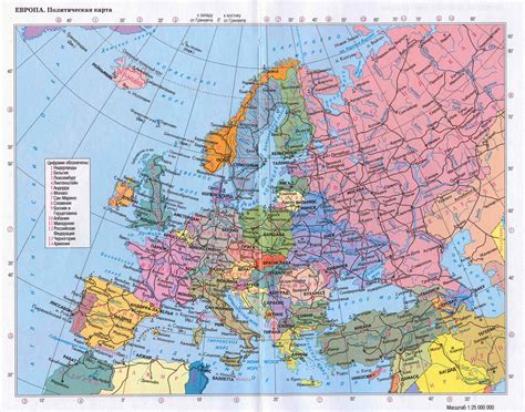 detailed map of maps update 1412997 detailed travel map of europe