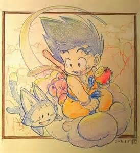 dessin son goku dragon ball crayon couleurs par aonoridango