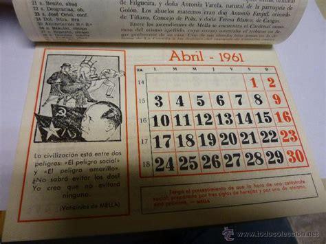 Calendario De 1961 Calendario De Pared Para 1961 Edicion Conmemor Comprar