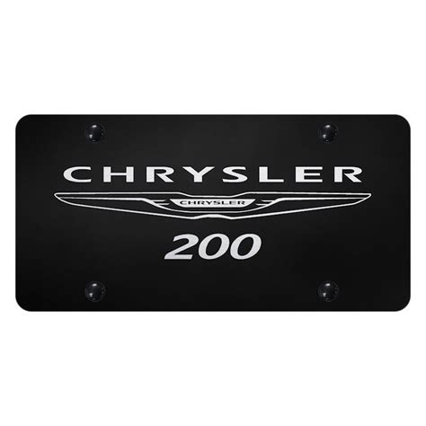 Chrysler 200 Logo by Autogold 174 License Plate With Laser Etched Chrysler 200 Logo