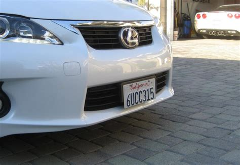 how to mount front license plate without