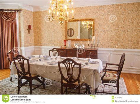 traditional dining room royalty stock photography image