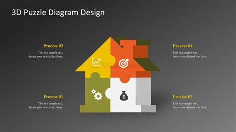 editable puzzle house shapes powerpoint graphics slidemodel