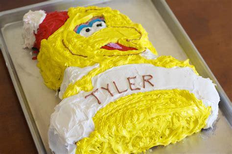 big bird birthday cake recipe makebetterfoodcom