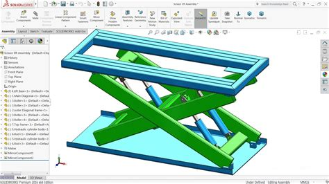 solidworks tutorials not loading solidworks tutorial design and assembly scissor lift in