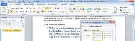 layout word aanpassen word 2010 maak complexe documenten in word 2010 word