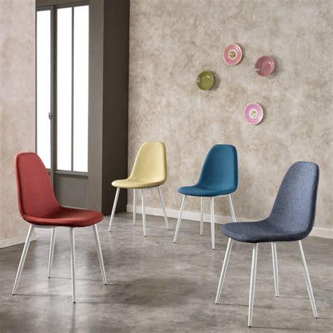 sedie per cucine moderne set 4 sedie moderne da cucina rivestite in tessuto dalia