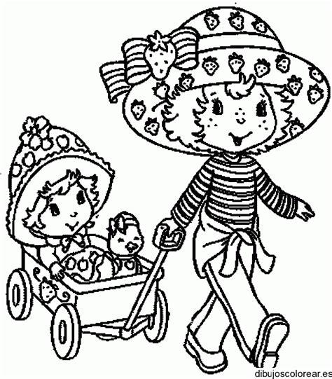 imagenes para pintar muñecas dibujo de fresita con una mu 241 eca en carruaje