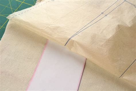 Make Tracing Paper - using tracing paper on a sewing pattern whipstitch