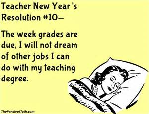 new year resolution for teachers humor from the pensive sloth top new year