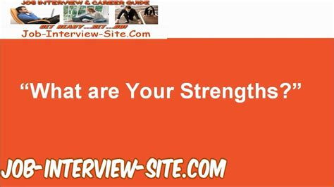 what are quot what are your strengths quot question and best