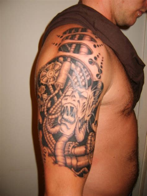 biomechanical shoulder tattoo designs biomechanical tattoos designs ideas and meaning tattoos