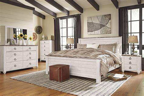 willowton whitewash panel bedroom set     ashley