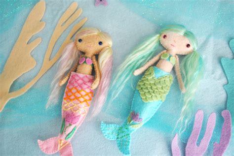 pattern for felt mermaid felt mermaid doll pattern make your own handmade dolls