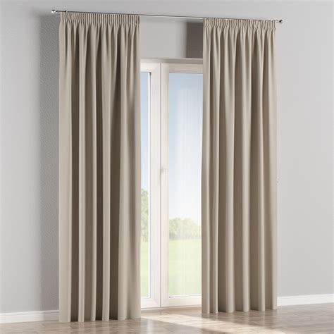 blackout pleated curtains blackout pencil pleat curtains light grey 140x260 cm