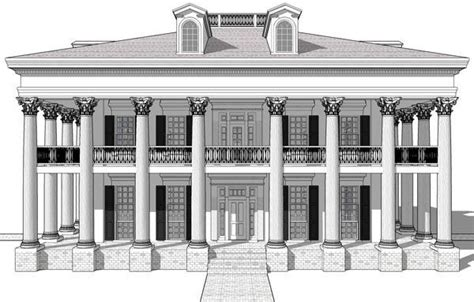 greek revival plantation house plans greek revival plantation house plan 67551