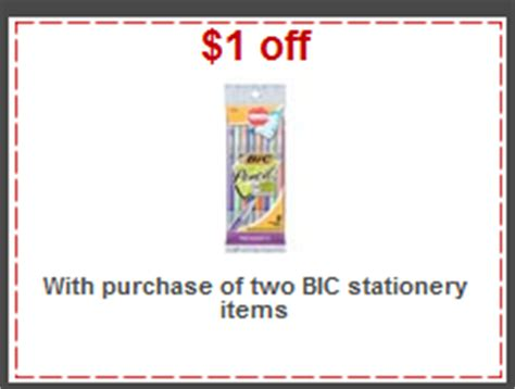 printable stationery coupons target free bic pens